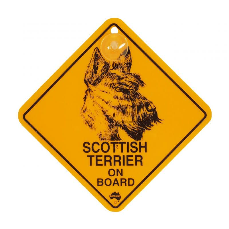 """Roadsign """"Hunde-Swinger - Scottish Terrier"""""""