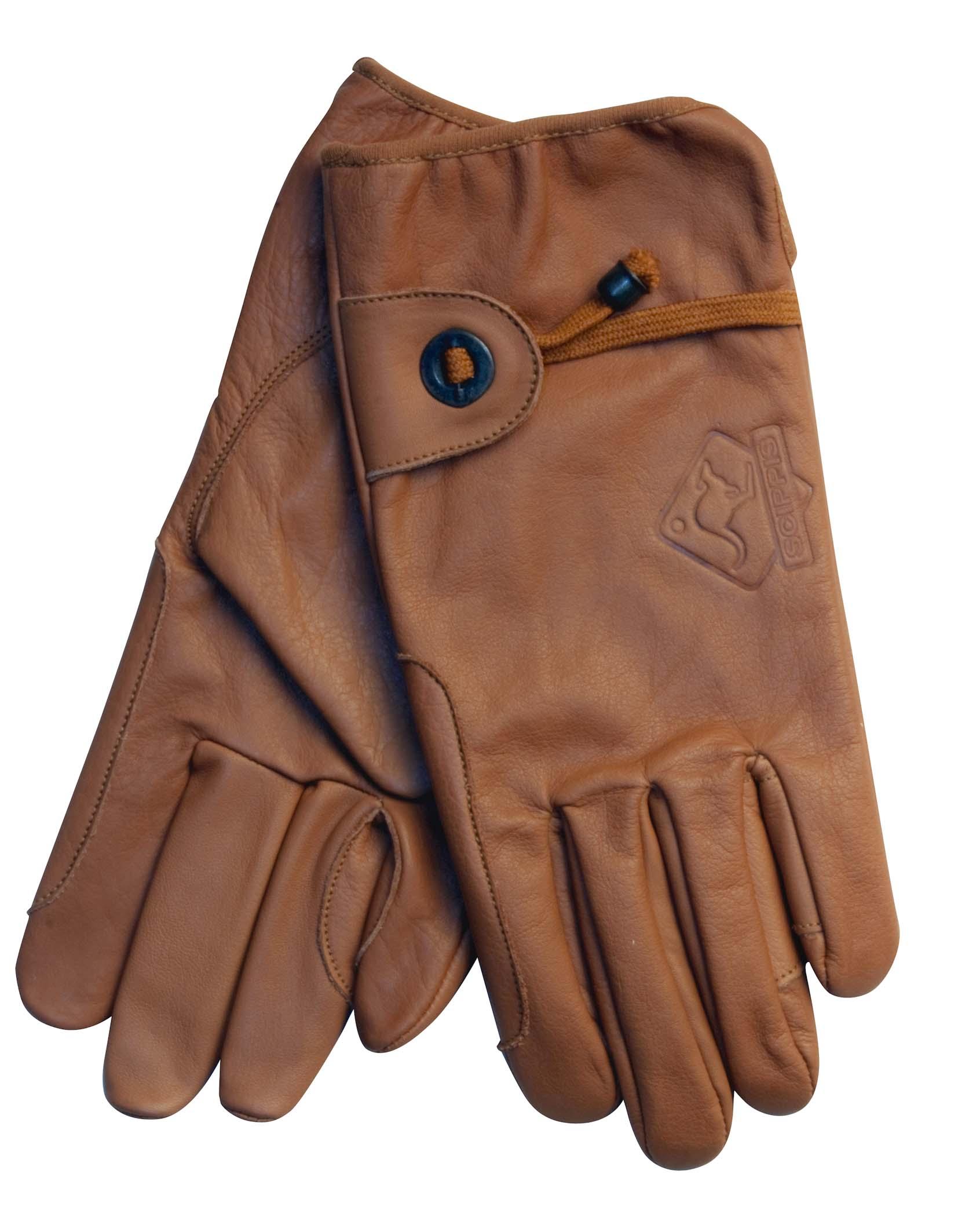 Scippis Leder Handschuhe-Braun-XL